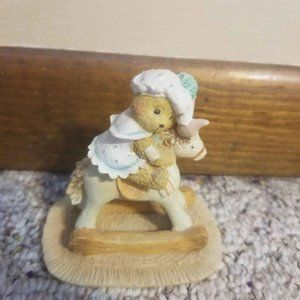 Cherished Teddies BEAR HUGS Teddy on Rocking Horse